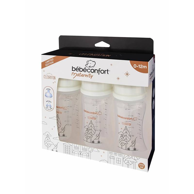 Lot de 3 Biberons Maternity Col Large 270ml Bébé Confort | Celebration (2016)