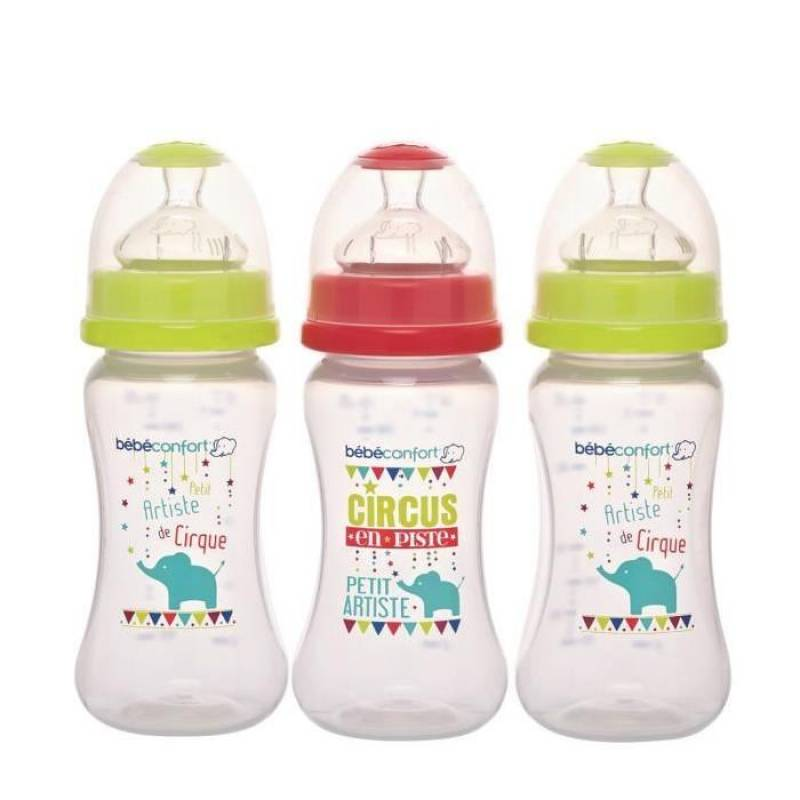 Lot de 3 biberons Maternity  270 ml  Edition Circus Bébé Confort