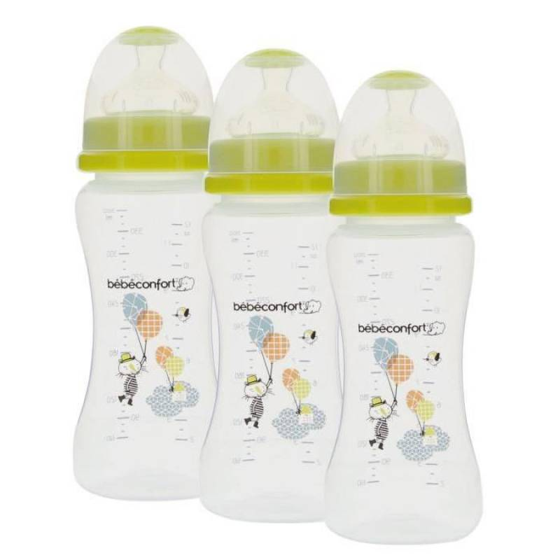 Lot de 3 Biberons Maternity Col Large 360ml Bébé Confort | Under the Rainbow (2016)