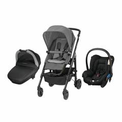 Trio Loola 3 Bébé Confort | Grey & Black