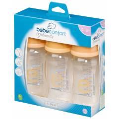Lot de 3 Biberons Evidence Pure Col Large 270 ml Bébé Confort (2012)