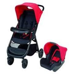 Duo Poussette combinée Amble Safety 1st | Plain Red (2017)